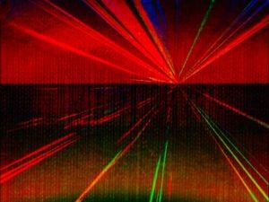 赤い放射光線